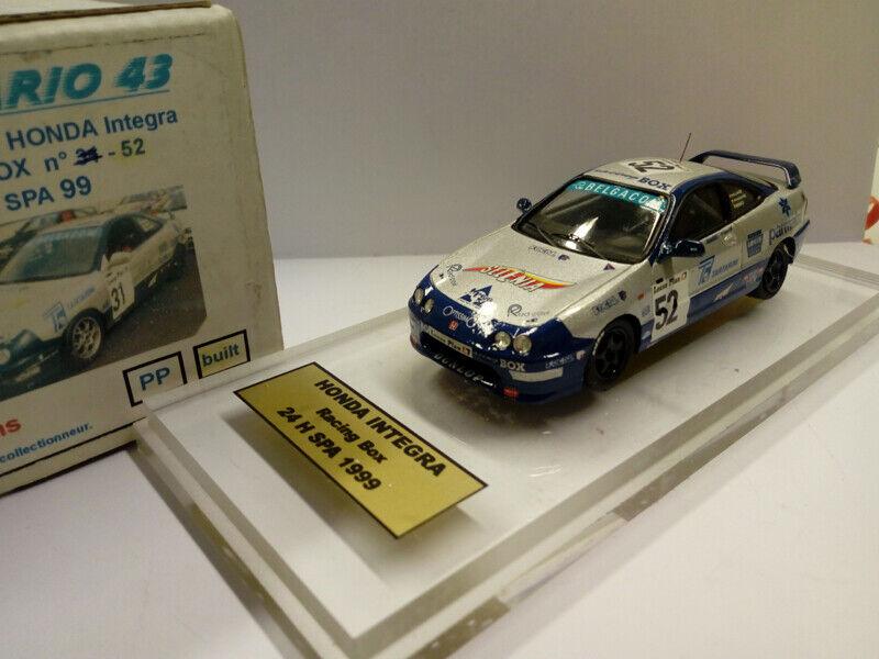 FRANCORCHAMPS FMHO-06 HONDA INTEGRA RACING BOX 24h Spa 1999    52