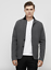 NWT KENNETH COLE BLACK LABEL KNIT SWEATER BLAZER Wool//Cashmere Charcoal