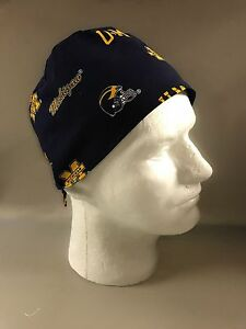 Image is loading UNIV-OF-MICHIGAN-handmade-Surgical-Scrub-Hat-Chefs- 4088227425d