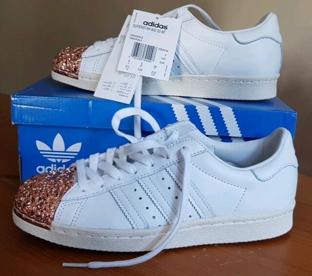 Women's adidas Superstar 80s Originals With 3d Rose Gold Toe Cap - UK Size 5