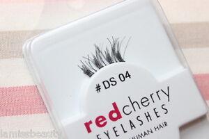 Red-Cherry-DS4-Akzent-Wimpern-halbe-falsche-Echthaarwimpern-strip-lash-DS-04