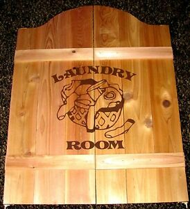 Laundry Room Saloon Cafe Swinging Doors Wood Pantry 37\