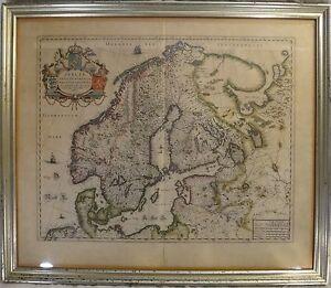 Original lg old world map of sweden denmark norway c mid 17th c image is loading original lg old world map of sweden denmark gumiabroncs Choice Image