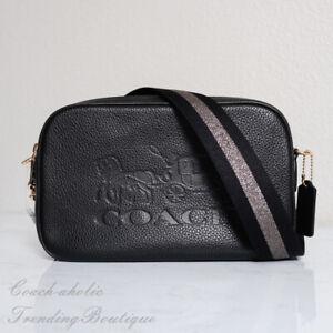 NWT-Coach-F75818-Leather-Jes-Crossbody-Camera-Bag-in-Black