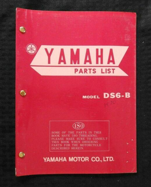 1970 Yamaha Ds6 B Motorcycle Parts Catalog Manual Supplement 1st Edition Rare Ebay