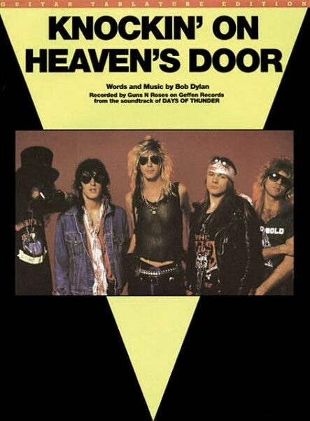 Knockin on Heaven's Door Guns N Roses Song Bob Dylan Guitar Tab Sheet Music