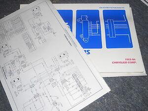 1983 1984 DODGE 600 ARIES CHRYSLER LEBARON E CLASS WIRING ...