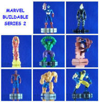 8 Marvel Spiderman Buildable Set 2 Figure Cup Cake Toppers You Pick One