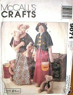 McCalls 9071 OOP Sew Many Bears /& Clothing Pattern