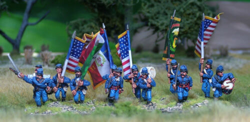 28mm American Civil War 1st Corps Commands Options in Kepi  and Slouch