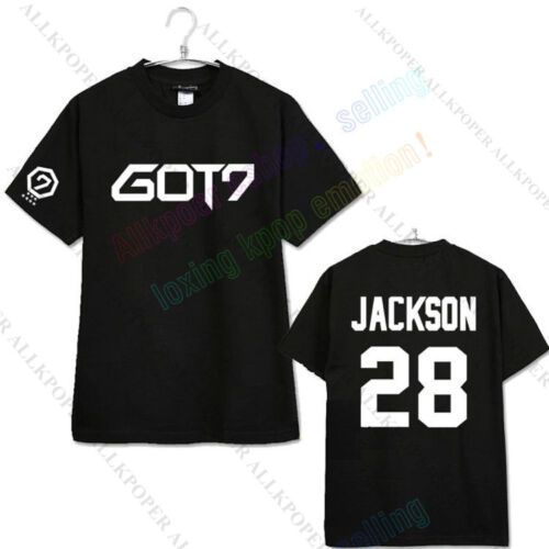 Korean Pop GOT7 T-Shirt T-shirt Tee NEW FLY concert BAMBAM Mark youngjae Jackson Coton