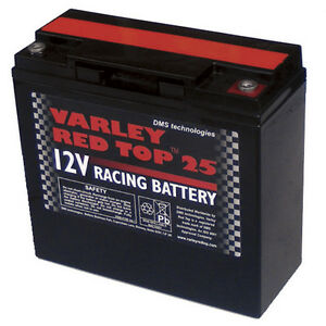 Varley-Red-Top-25-Battery-Racing-Oval-Rally-Motorsport-Dry-Cell-Lightweight