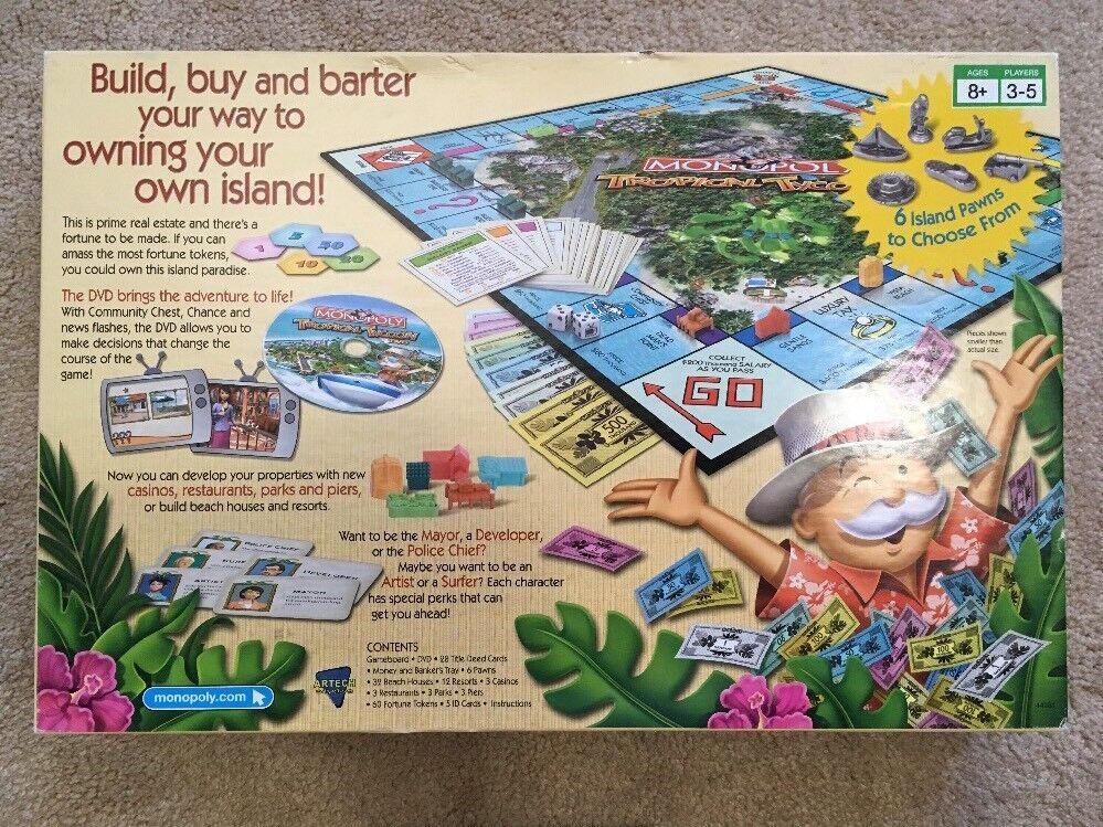 Hasbro Games 44281 Monopoly Tropical Tycoon Game Ebay