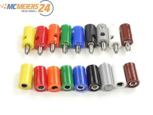 E77 10x H0 Bananenstecker Zwergstecker miniatur Stecker Muffen Farbe wählbar