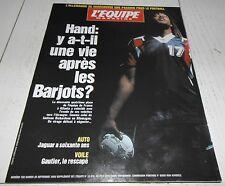 EQUIPE MAGAZINE N°758 1996 HAND BARJOTS BUNDESLIGA DACOURY BOXE F1 VOILE GAUTIER