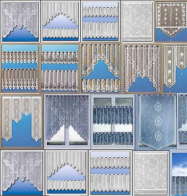 Scheibengardine Bistrogardine Jacquard Set Küchengardine weiß bunt Panneaux 2340