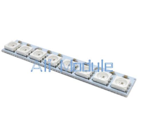 5PCS WS 2812 WS 2811 5050 RGB LED Lamp Panel Module 5V 8-Bit Rainbow LED Precise