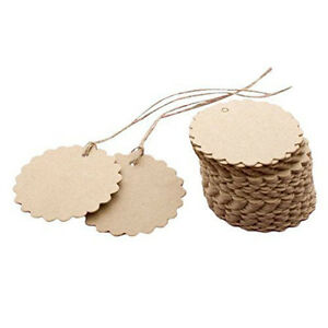 50pcs bag flower round kraft paper hang tags wedding party. Black Bedroom Furniture Sets. Home Design Ideas