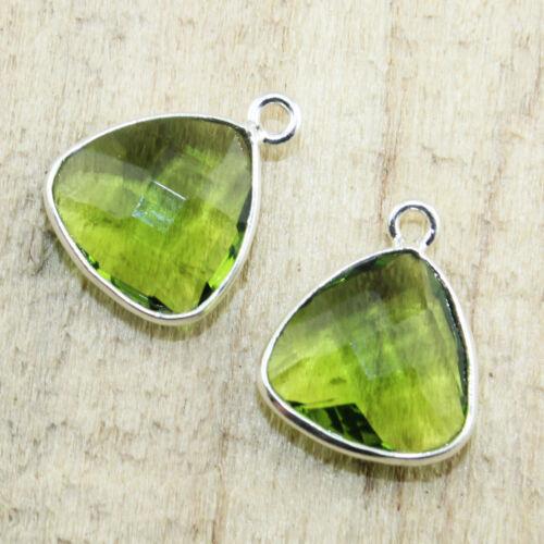 Multi Gemstone Silver Plated Earrings Necklace Bracelets Connectors Jewelry 2Pcs