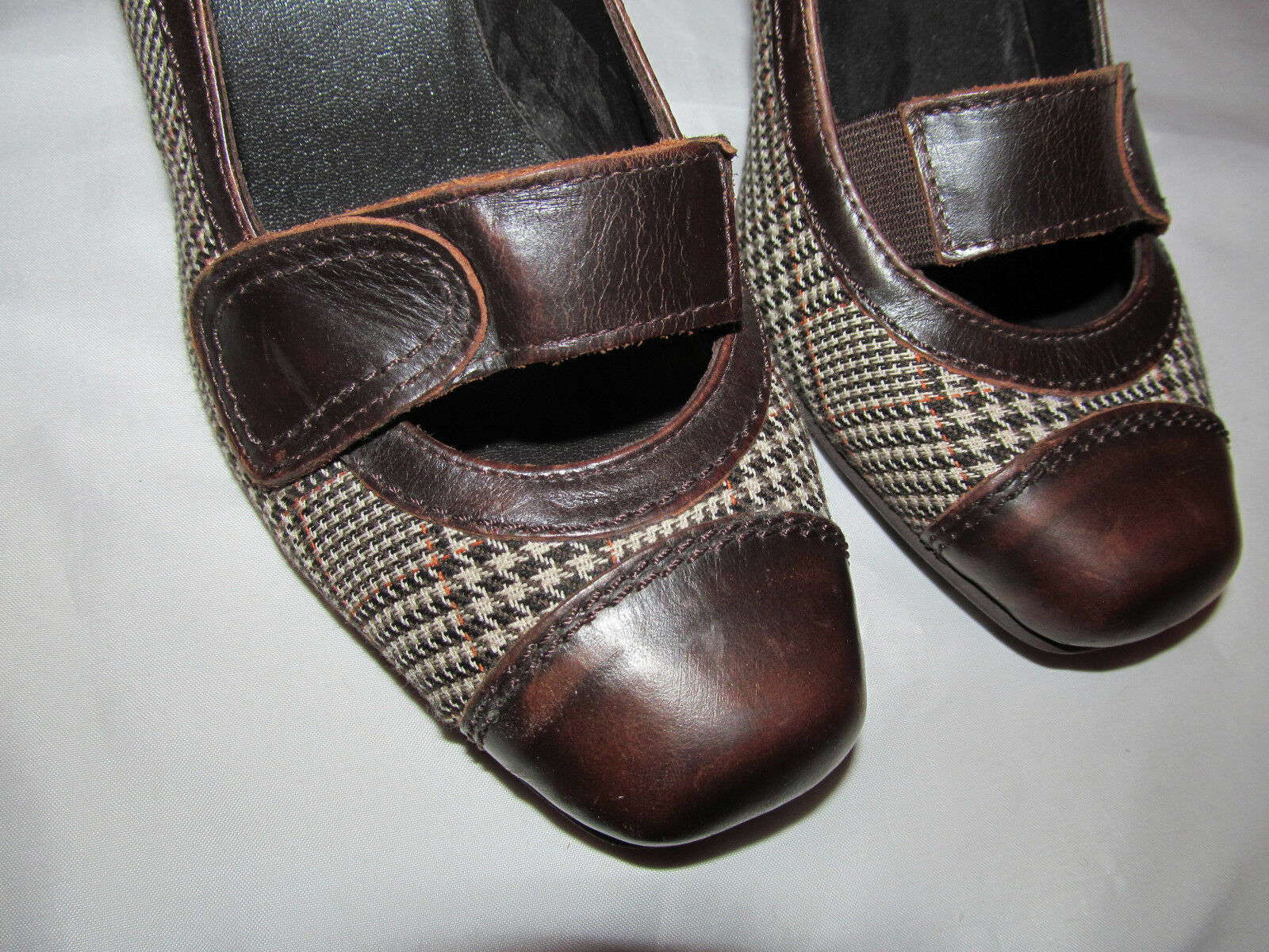 GINITA plaid herringbone mary jane jane jane pumps schuhe 39 US 9 M NEW d9d7a3