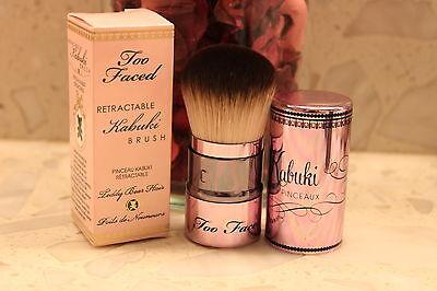 Too faced Retractable Kabuki Brush Foundation blush bronzer NIB $34 NEW IN BOX
