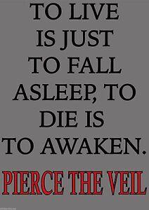 Alerte Pierce The Veil Mur Porte Fenêtre Autocollant-afficher Le Titre D'origine