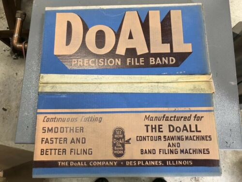 """NEW DoAll BAND FILE BLADE 3//8"""" HALF ROUND  120"""" LENGTH 16 TEETH  FREE SHIPPING!!"""