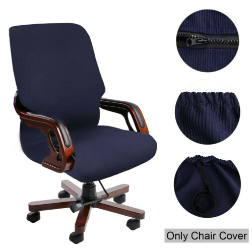 Waterproof Jacquard Office Chair Slipcover Swivel Armchair