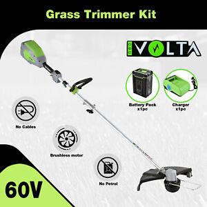 Neovolta 60V Grass Trimmer Kit Cordless Lithium Lawn Edge Light Weight Garden