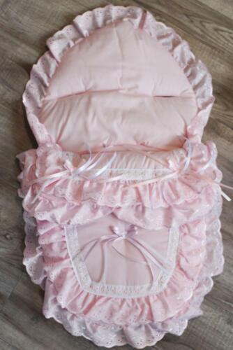 Pink Frilly Car Seat Foot Muff Cozy Toes