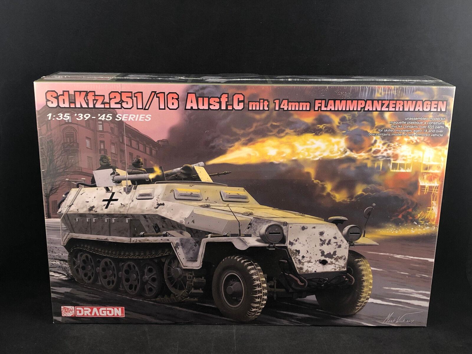Dragon Sd.Kfz.251 16 Ausf.C mit 14mm Flammpanzerwagen 1 35 Scale Model Kit 6864