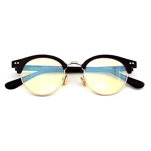 71dc72ce12ab Gameking S22134 Retro Vintage Half Frame Blue Light Blocking Glasses  Computer for sale online