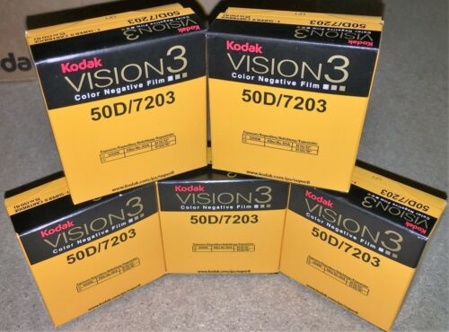 5 Rolls Kodak V3 Super 8mm Colour Negative Film 50D 7203 Official Reseller