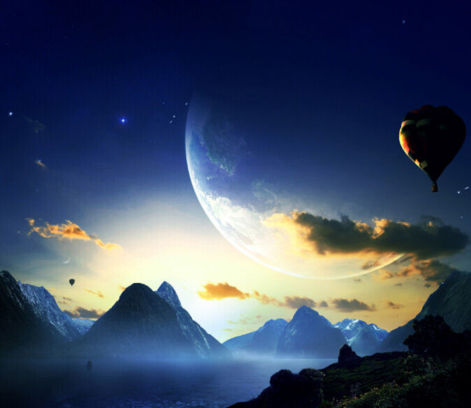 3D Die ballons fliegen 093 Fototapeten Wandbild Fototapete BildTapete Familie DE