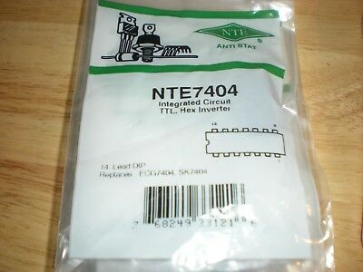 NTE7404 TTL INTEGRATED CIRCUIT REPL ECG7404