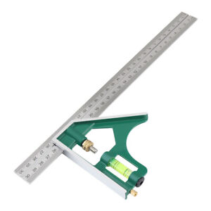 "12/"" Kombinationswinkel 45°/&90° Einstellbar Anschlagwinkel Winkelmesser 300mm DE/_"