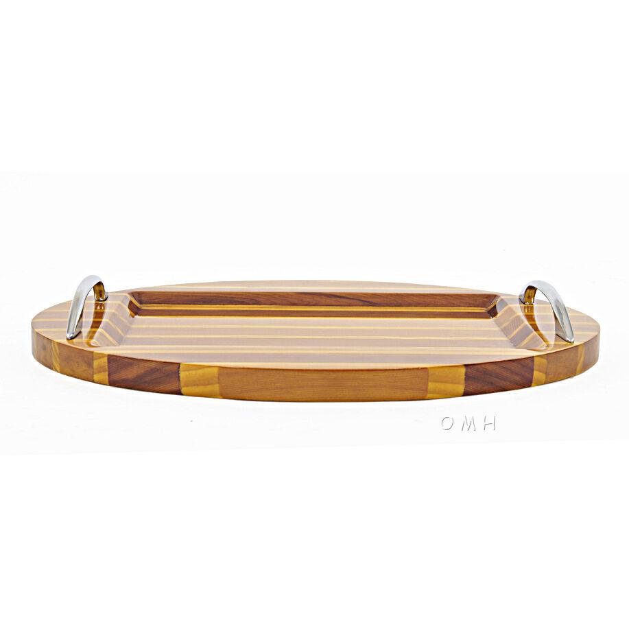 Chris Craft Serving Sushi Ovale Plateau Platter 12.5  Cèdre Rouge Nautique Décoration