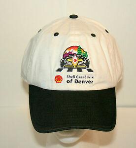 Shell-Oil-Denver-Grand-Prix-F1-Racing-Formula-1-Car-White-Hat-Cap-New-NOS-OSFM