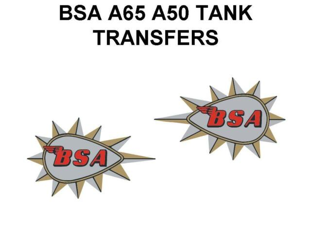 BSA Peardrop Tacon a Punta Depósito Transfers Pegatinas