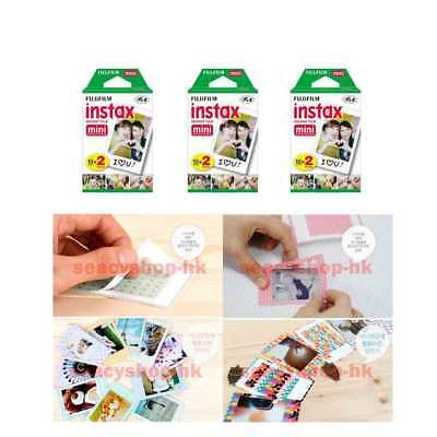 6 Packs Fujifilm instax Mini Film,60 Fuji instant photos Mini 9 8 7s 90 25 55i