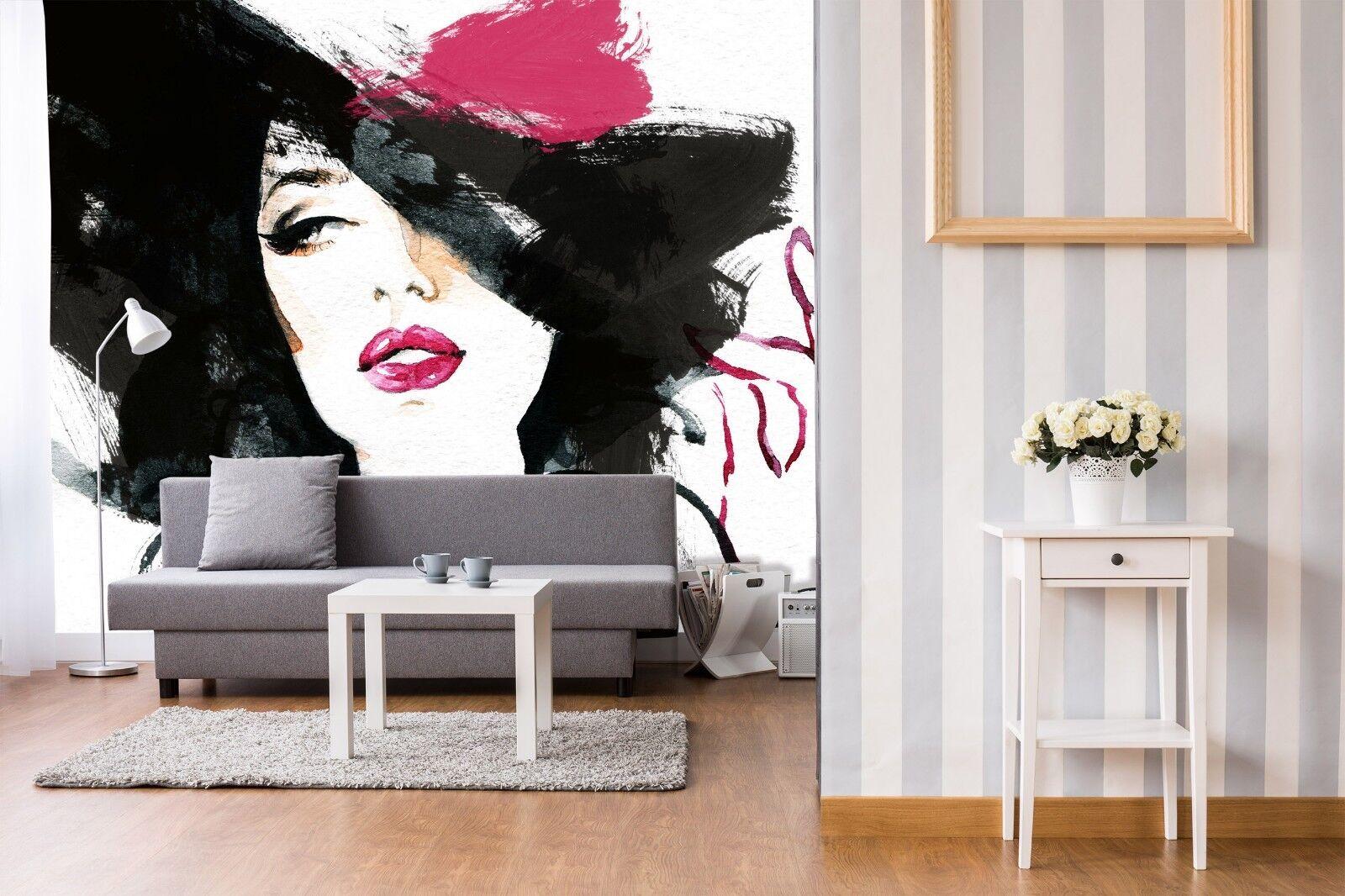 3D Face Beauty 803 Wall Paper Murals Wall Print Wall Wallpaper Mural AU Summer