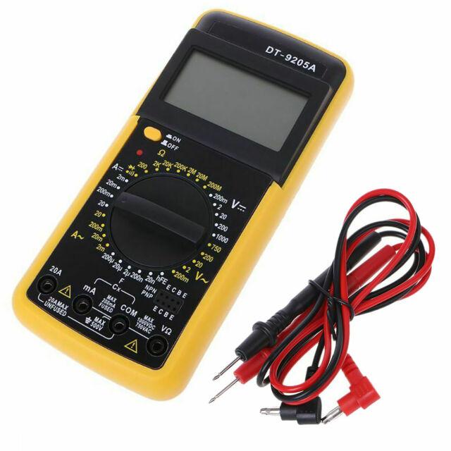 DT-9205A Multimeter LCD Digital Ammeter Resistance Capacitance AC/DC+ Tester Pen