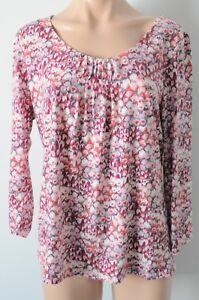 REGATTA-Top-Sz-16-Large-Pink-Red-White-blouse
