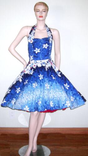 VINTAGE 1950s HAWAIIAN DRESS KAMEHAMEHA BOMBSHELL