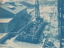 RARE CYANOTYPES~RECONSTRUCTION MARE ISLANDFACILITIES~(2 PHOTOS)~VALLEJO,CA.-1926