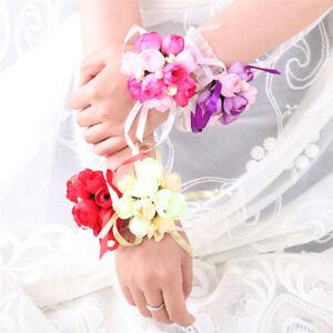Bouquet Sposa Bracciale.Nozze Fiori Braccialetto Rose Sposa Damigella D Onore Ragazza