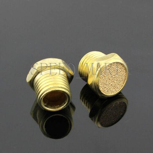 2 pcs 3//8 BSPT Bronze Brass Pneumatic Valve Sound Noise Muffler Silencer SLM-03