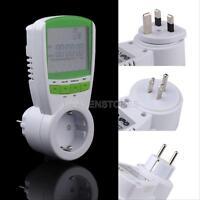 LCD 230V 16A Energy Meter Watt Voltage Volt Hertz Power Analyzer Factor Monitor