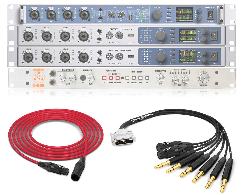 Paquete Premium Mogami Mogami Mogami cableado para Dangerous Music-Caja y RME UFX D UFXII UFX + 10547a