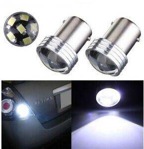 2x Ampoules LED BA15S P21W 6 SMD Blanc 6000K Feu de recul Voiture